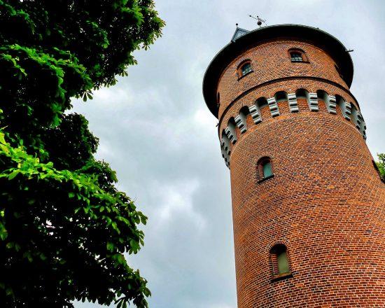 Low angle shot of the Lighthouse Kolobrzeg in Poland
